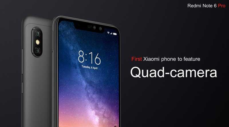 Xiaomi Redmi Note 6 pro lanzado con dos cámaras autofotos y pantalla con muescas