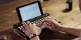 Penna un teclado retro de alta tecnología