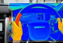 Más cálido: el nuevo volante de Jaguar Land Rover utiliza el calor para guiarlo