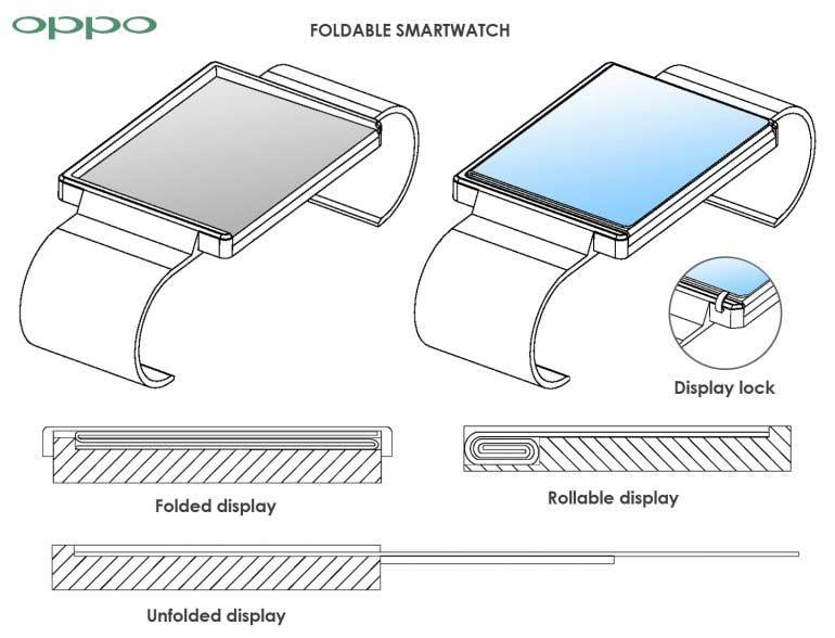 Oppo smartwatch con pantalla plegable
