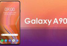 Teléfono Samsung Galaxy A90 con potente procesador