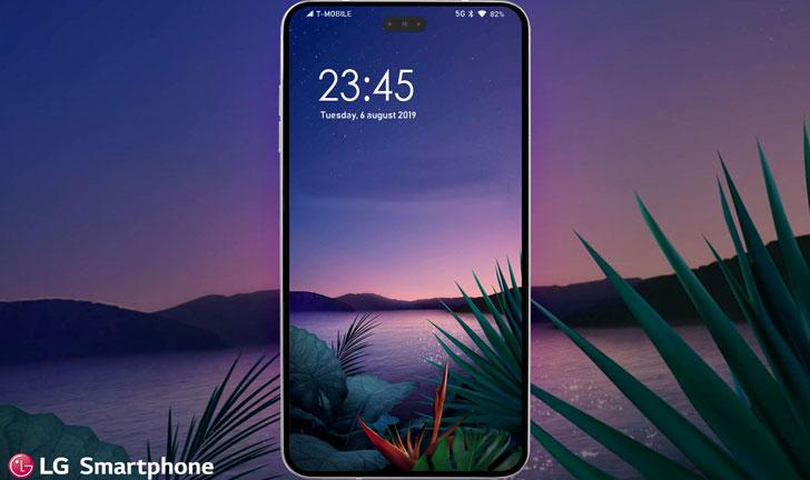 Smartphone LG con cámara perforadora y sensores en pantalla