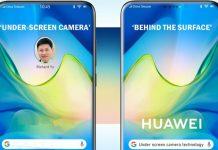 Smartphone Huawei con tecnología de cámara debajo de la pantalla