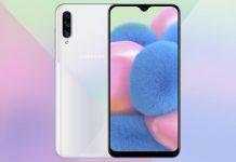 Samsung Galaxy A30s con escáner de huellas digitales debajo de la pantalla
