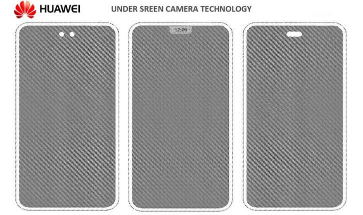 Smartphone Huawei con cámara debajo de la pantalla